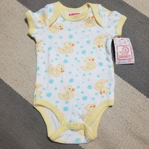 0-3 Month Duck Onesie